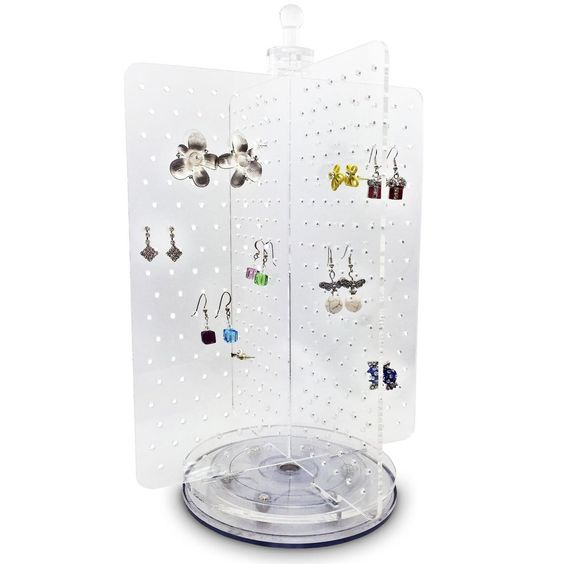 #JWY6025 Acrylic Rotating 216 Pairs Earring Jewelry Display