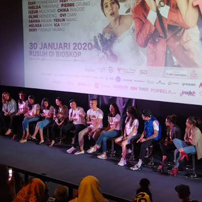press confrence film temen kondangan