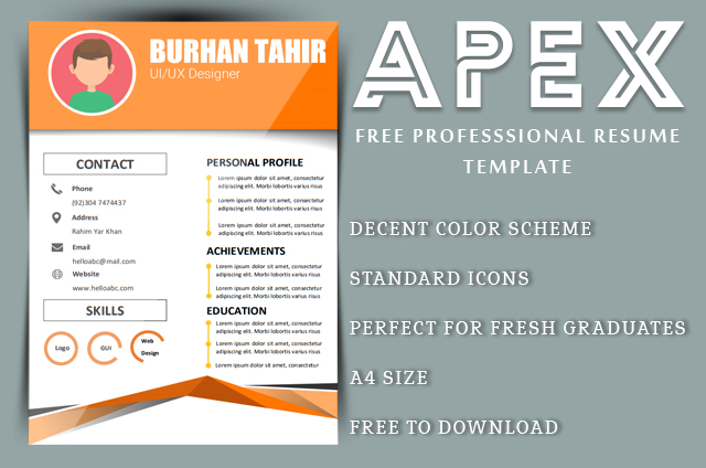 Apex free Professional resume template