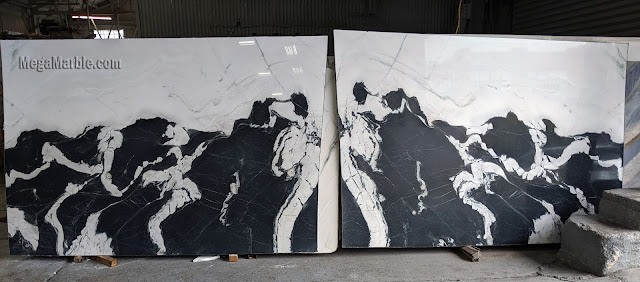 Panda White Marble Slabs Bookmatch