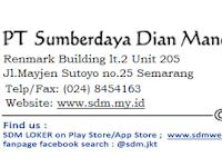 Lowongan Kerja Area Sales Promotion & Representative (ASPR) di PT Sumberdaya Dian Mandiri - Semarang