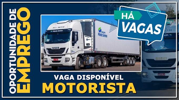 Transportadora Monte Sereno abre vagas para motorista Instrutor