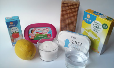 ingredientes tarta de queso al limon