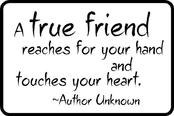Motivational Moment: True Friendship Involves Action...