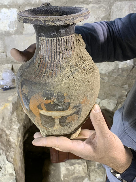Unlooted burial from fourth century BC discovered in Matera, southern Italy