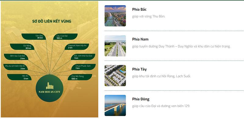 Kết nối dự án Nam Hội An City