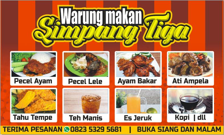 Download Contoh Spanduk Warung Makan Unik Format CDR - KARYAKU