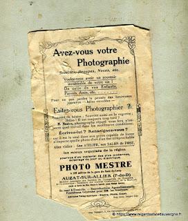 Publicité  Mestre, Photographe Auzat sur Allier.