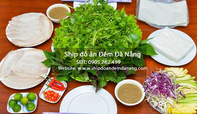 Bánh tráng cuốn thịt heo - ship đồ ăn đêm Đà Nẵng