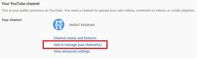 Cara Membuat dan Menambahkan 2 Channel YouTube dalam Satu Akun