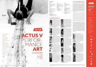 ACTUS Performance Art Platform Brussels november 2017