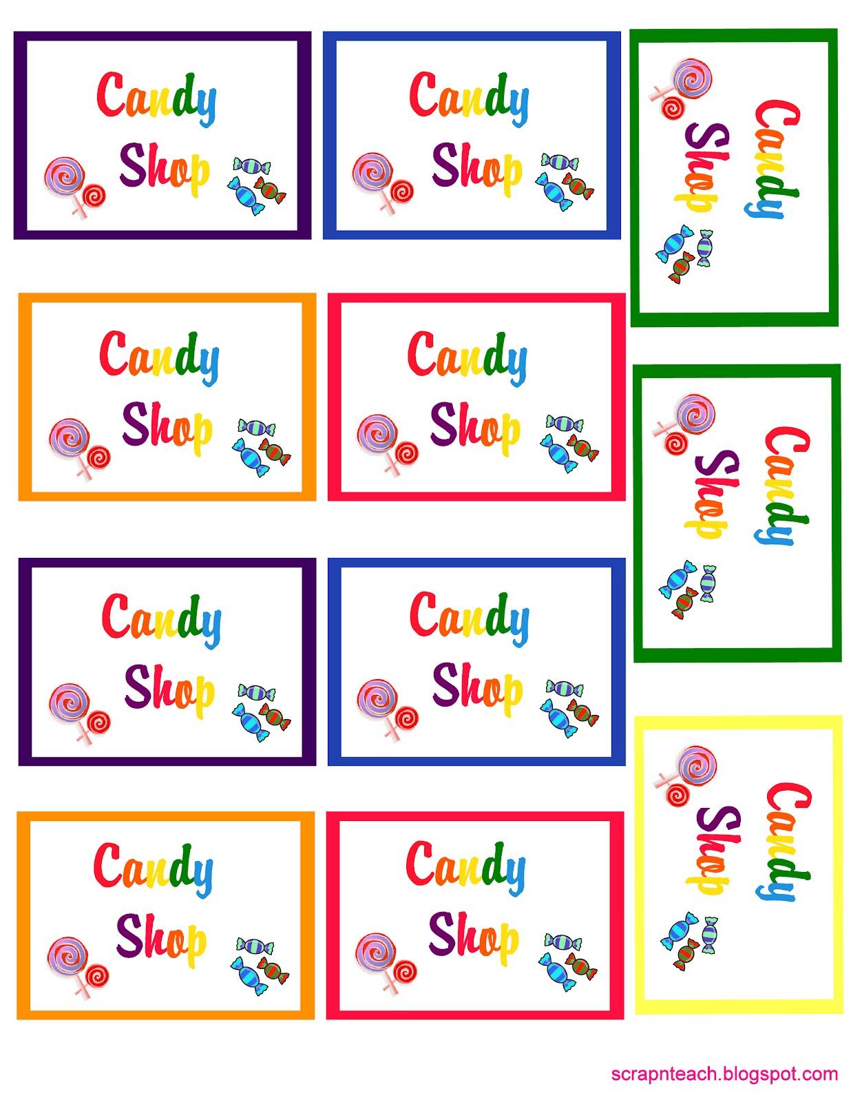 Scrap N Teach Kiralena S 4th Rainbow Candyland Birthday Free Printables