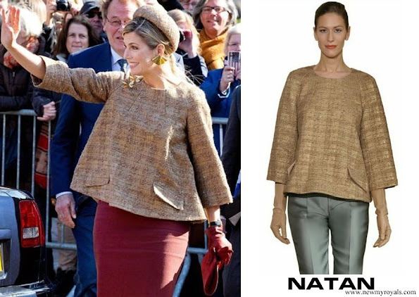 Queen Maxima in Natan winter 2013 collection