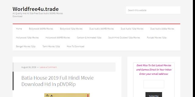 Worldfree4u 2019: Download 300mb movie, Bollywood, hollywood, Tamil, Telugu movie for free