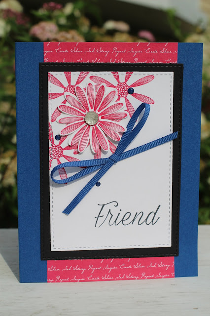 One of the projects from the The Joyful Stamper's Stampin' Up! Daisy Lane Class To Go kit