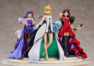 Saber, Rin Tohsaka y Sakura Matou ~15th Celebration Dress Ver.~