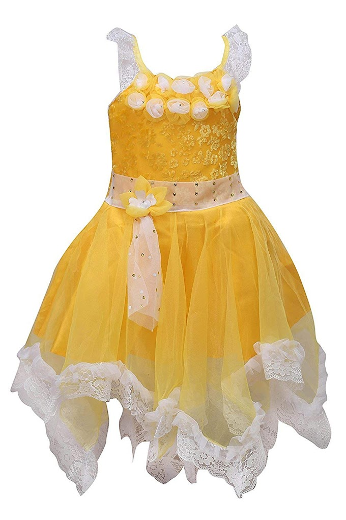 Wish Karo Girls Frock Dress - Net - (fr089)