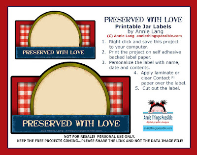 Make Annie Lang's Printable Jar Labels!