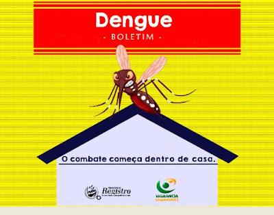 196 casos confirmados de Dengue  em Registro-SP