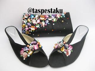 Sandal dan Tas Pesta Model Terbaru Handmade Cantik