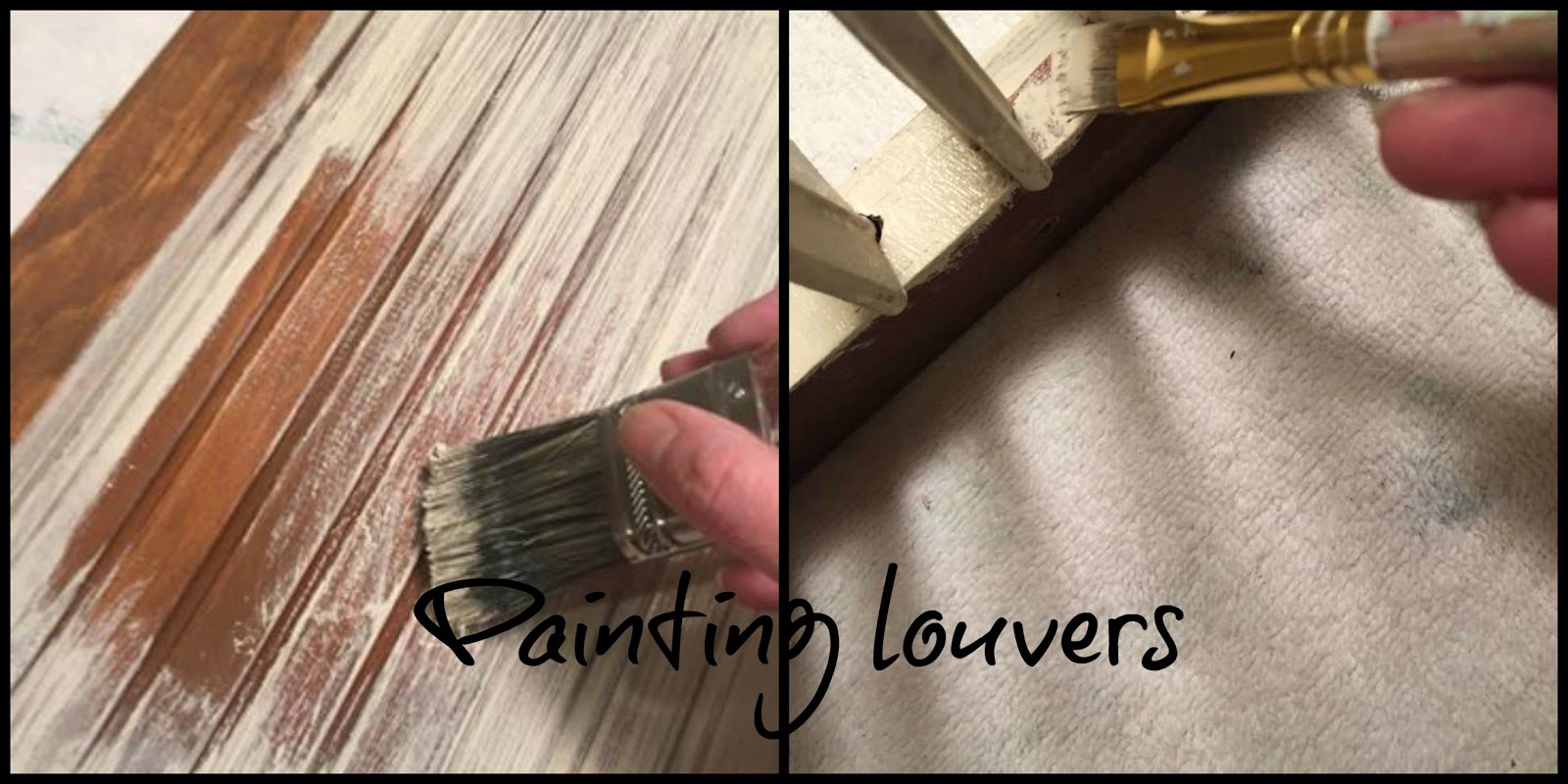 Paint large areas with a 2-inch brush and tight spaces with a small brush