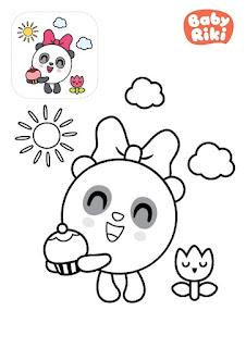 דפי צביעה כדוריקים לילדים בגיל הגן