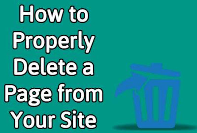 How to Properly Delete a Page from Your Site