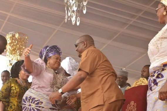 See What Patience Jonathan Was Spotted doing In Rivers State With Gov. Enyesom Wike
