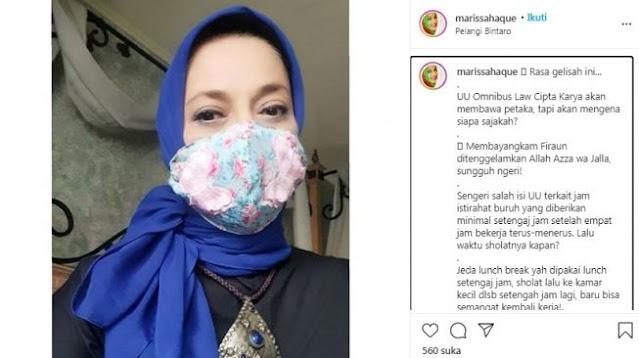 UU Ciptaker Merubah Aturan Sertifikasi Halal, Marissa Haque: Perlahan Umat Islam Indonesia Di-murtad-kan