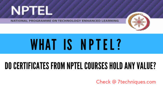 What is NPTEL