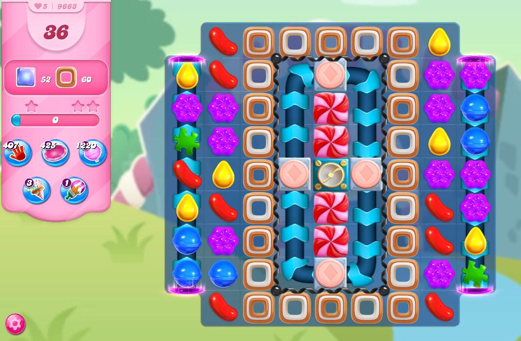 Candy Crush Saga level 9663