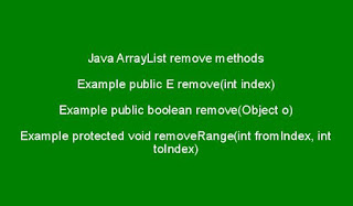 java-arraylist-remove