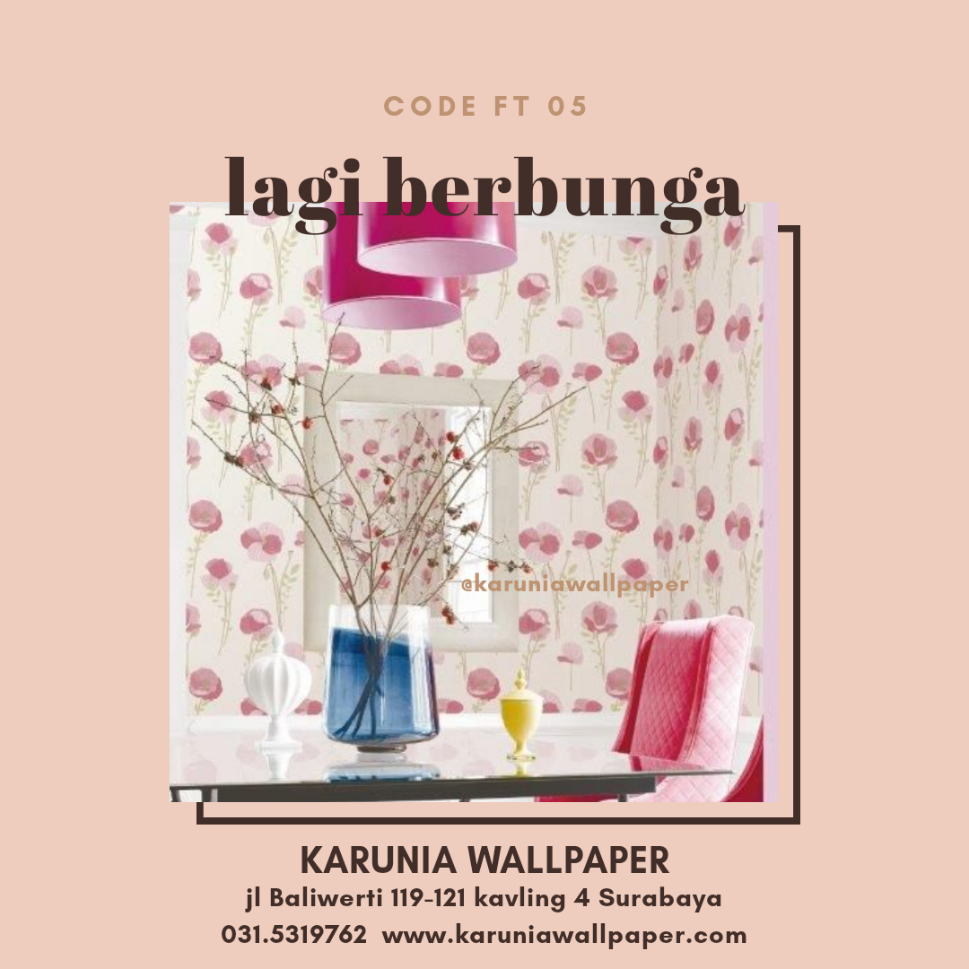 toko jual dinding wallpaper bunga cantik