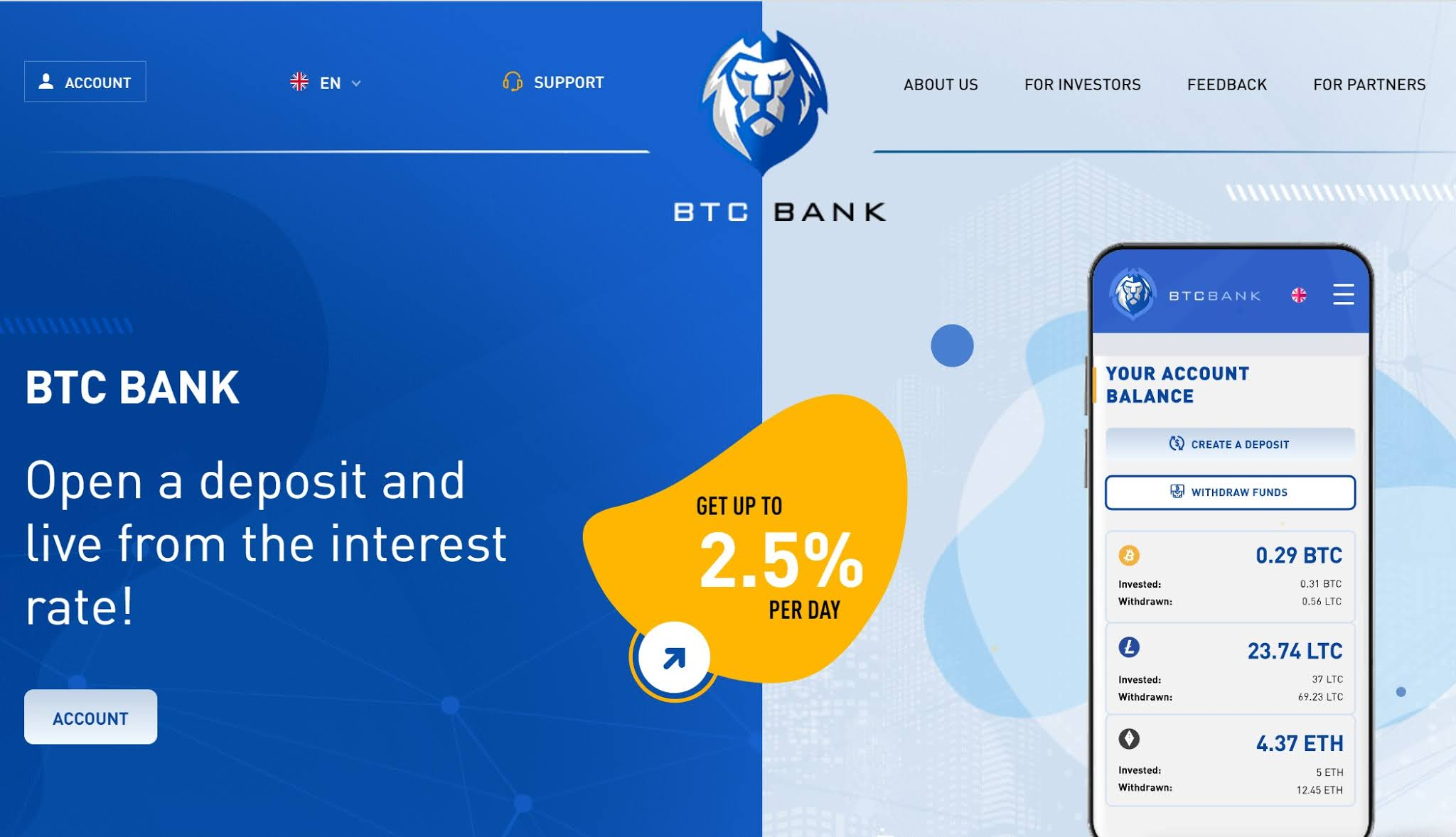 review hyip : btc-bank.org