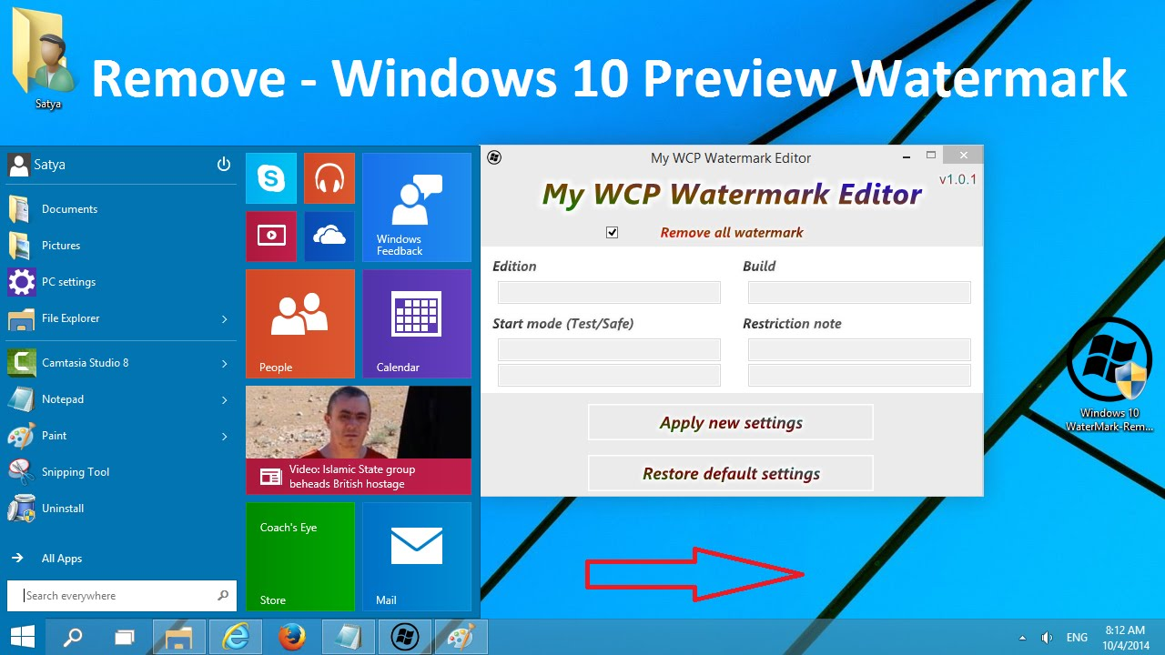 how to get rid of activate windows watermark