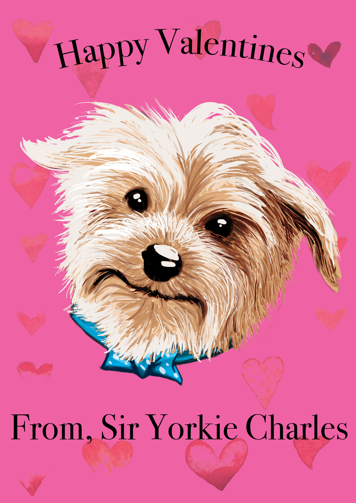 Happy Valentines Day from Sir Yorkie Charles