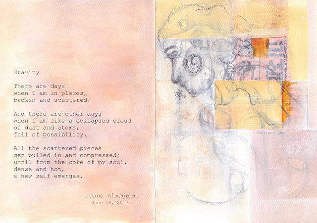 poem and a painting, gravity, gallery juana