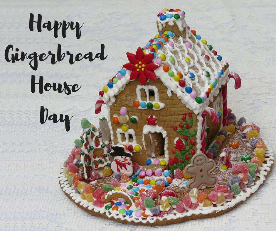 Gingerbread House Day Wishes Pics