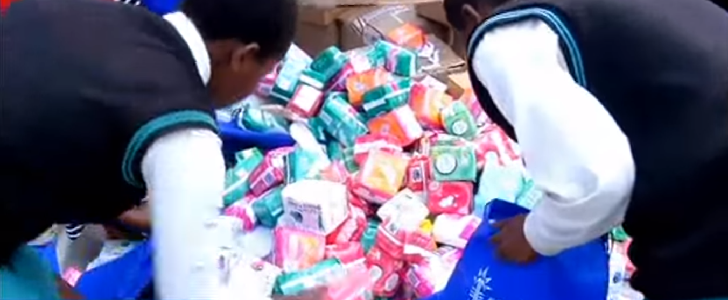 Schoolgirls who have reached puberty will now receive free sanitary towels from the Kenyan government