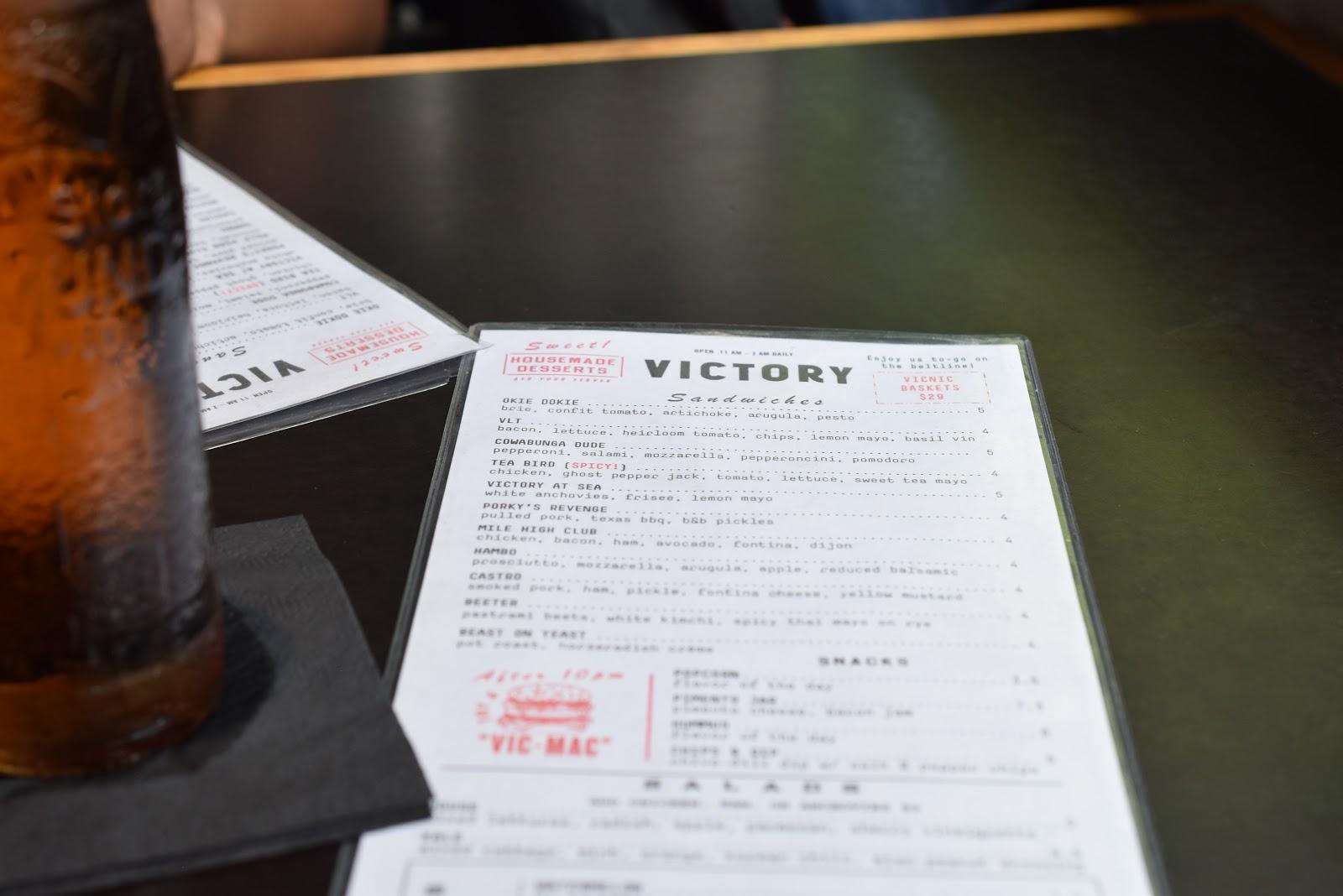 Victory Sandwich Bar at Inman Park Atlanta