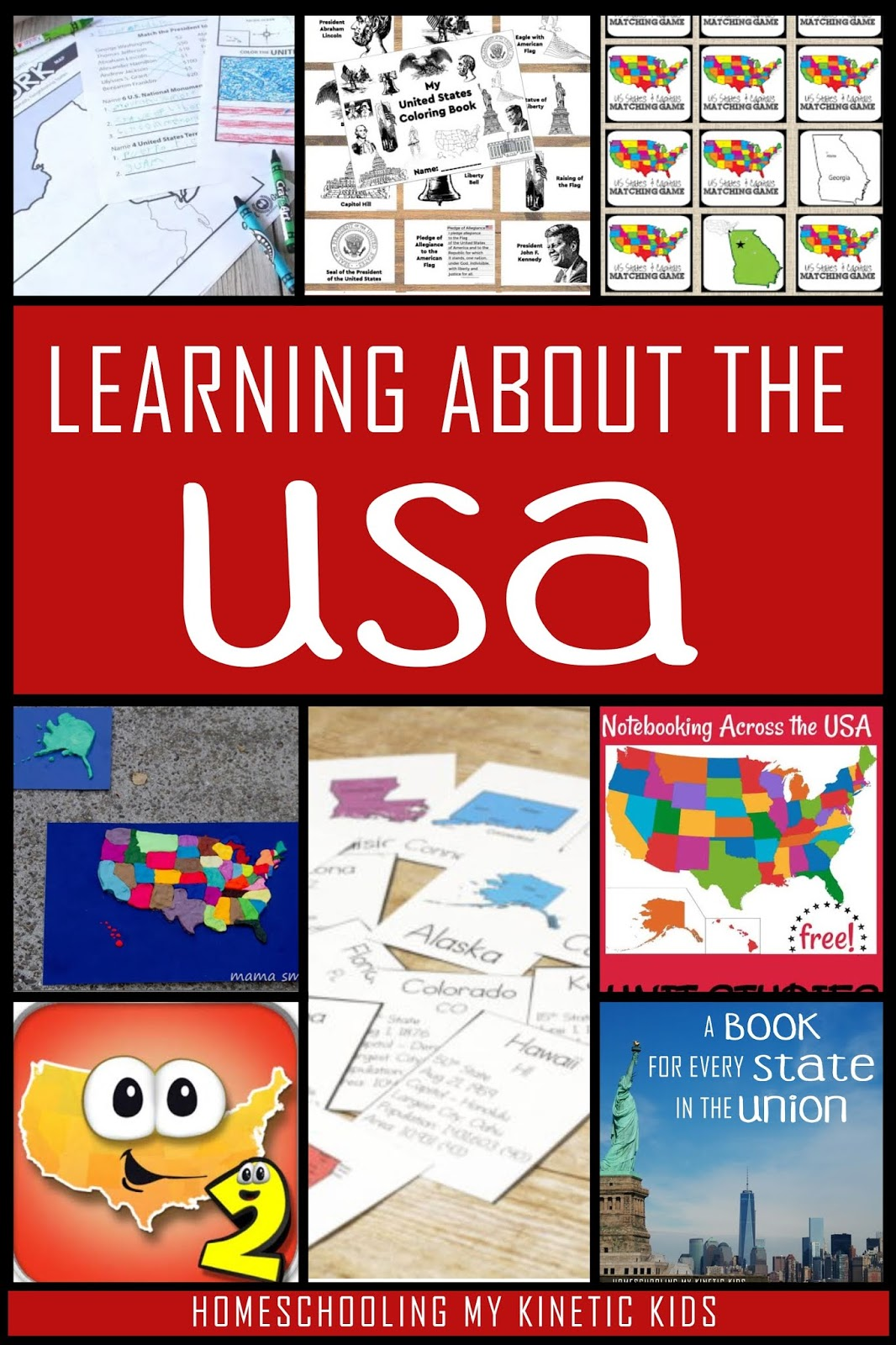 Resources For Studying Us States And Capitols