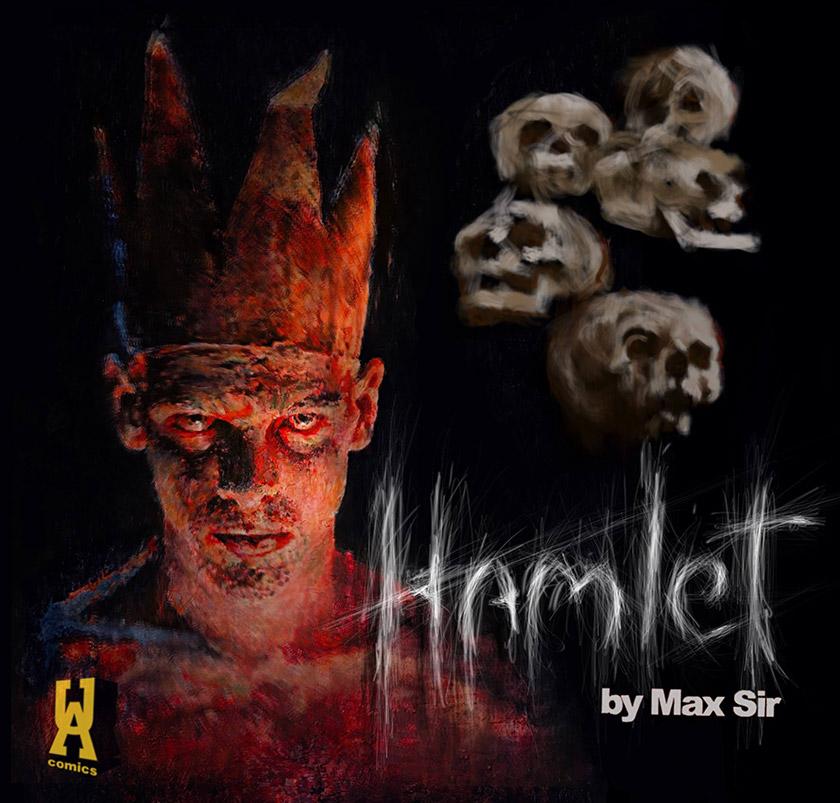 Обкладинка графічної новели «Гамлет» Макса Сіра. Презентація цієї книги відбулася на цьогорічному книжковому форумі у Львові