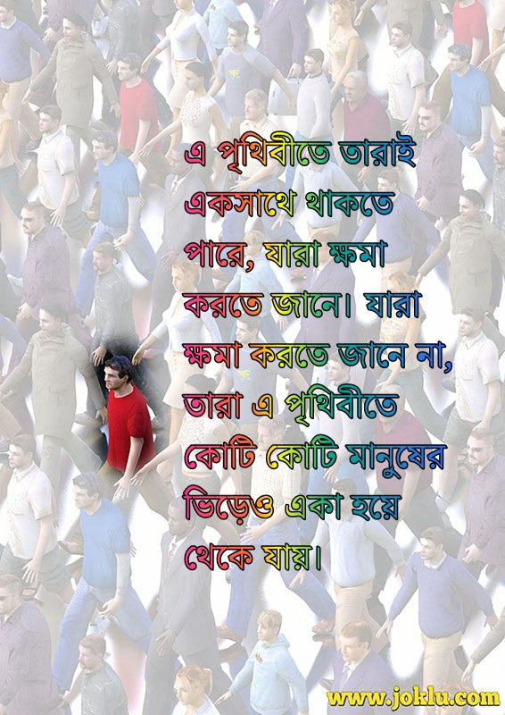 Together again sorry message in Bengali