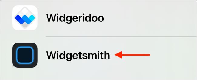حدد Widgetsmith