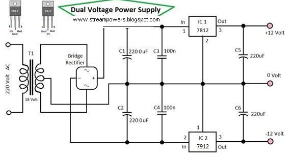 12 volt dc power supply circuit