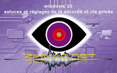 Windows 10 : Banner astuces et réglages sécurité et vie privée