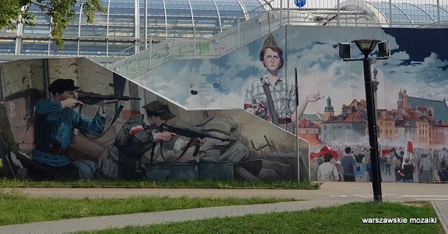 harcerska poczta polowa Jarosław Fabiś murale warszawskie Bielany Żoliborz streetart graffiti kładka nad ulicą