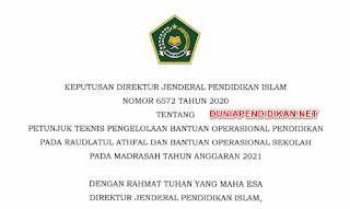 JUKNIS BOS MADRSAH TAHUN 2021 TERBARU