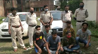 मादक पदार्थ गांजा की तस्करी में लिप्त 6 आरोपी गिरफ्तार