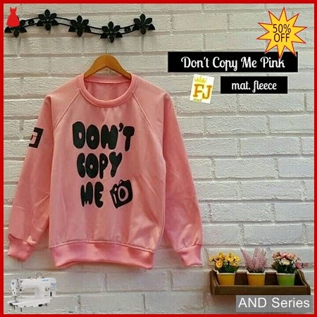 AND395 Sweater Wanita Dont Copy Me Pink BMGShop